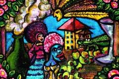 Afros, Olives & an Alligator