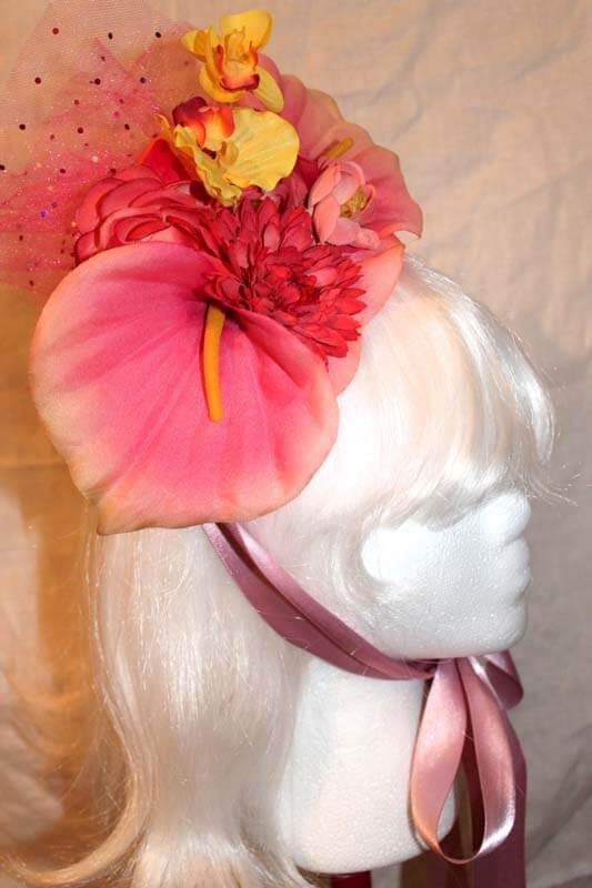 Yellow & Pink Orchid Hat