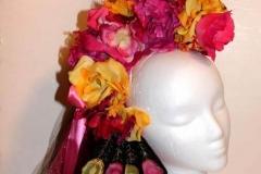 Pink Peacock Flower Headpiece