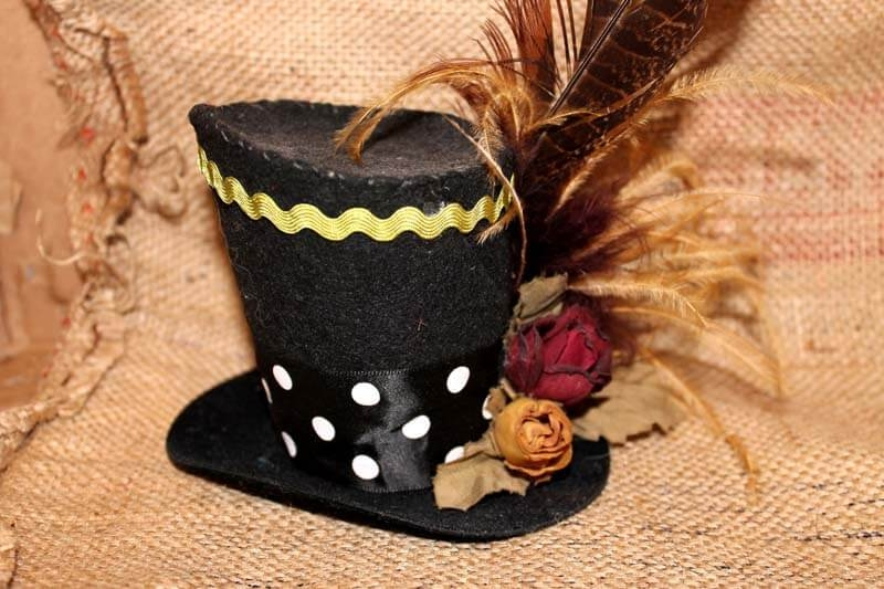 Polka Dot Band Tiny Top Hat