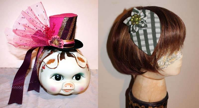 Tiny top Hat & Fascinator