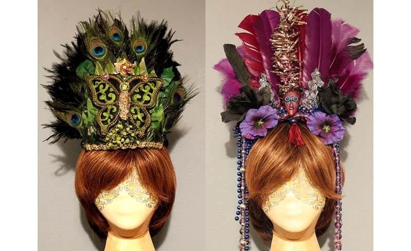 Tribal & Mardi Gras Feather Headpieces
