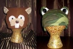 Beaver & Frog Hats