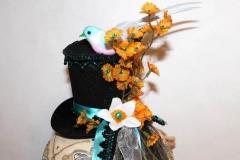 Little Bird & Daisies Tiny Top Hat