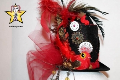 Red Cuckoo Tiny Top Hat
