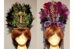 Tribal & Mardi Gras Feather Headpieces