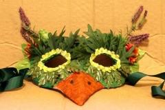 Green Leaf Bird Mask