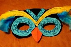 Yellow & Blue Cuckoo Bird Mask