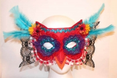 Country Red Gigham Hoot Owl Mask