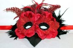 Red Velvet Petal Bird Mask