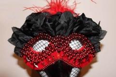 Red Bird Beaded Mask