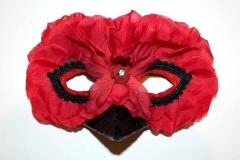 Rose Petal Red Bird Mask