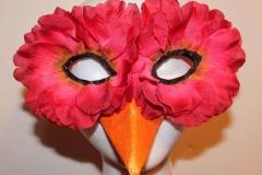 Pink Rose Petal Bird Mask
