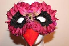 Fuchsia Orchid Bird Mask