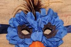 Rose Petal Blue Bird Mask