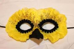 Yellow Bird Flower Petal Mask