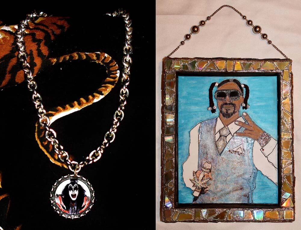 Gene Simmons Necklack & Snoop Dogg Art