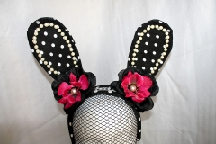 Black Polka Dot Rabbit Ears