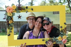Yellow Wedding Photo Frame - Wide