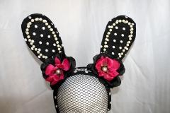 Black Polka Dot Rabbit Ears
