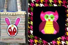 Luchadore Conejo & Owl Purses