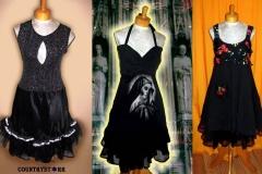 Virgin Mary, Glittery Black   & Fruit Dresses